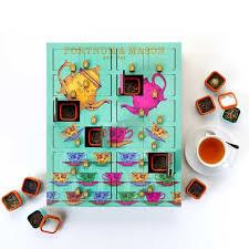 advent calendar tea wooden advent calendar 210g fortnum