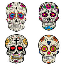 Day Of The Dead White Day Of The Dead Black And White Skull Royalty Free Stock Image