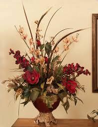 artificial floral arrangements 2 orchids pheasant feathers artificial silk flower arrangement