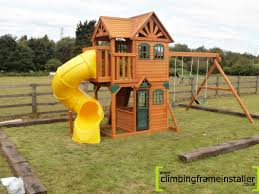 exterior interesting landscape design with cedar summit playset