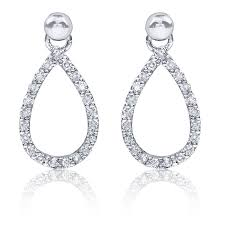 diamond dangle earrings pear shape diamond dangle earrings