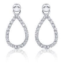 dangle diamond earrings pear shape diamond dangle earrings