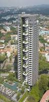 the 36 storey tower incorporates 118 apartments with views towards