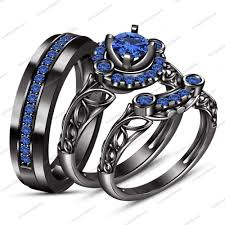 black engagement ring set fresh wedding trio ring sets with engagement rings bridal sets