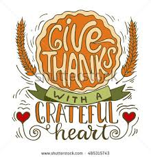 give thanks grateful thanksgiving day stock vector 485315743