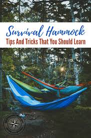 survival hammock tips and tricks that you should learn