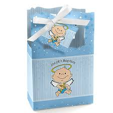 baptism favor boxes angel baby boy personalized baptism favor boxes