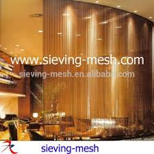Hanging Curtain Room Divider Woven Metal Wire Curtains Hanging Ceiling Metal Hanging Curtains