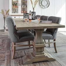 farmhouse table and chairs with bench reclaimed wood dining table