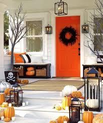 fall front porch ideas pumpkins