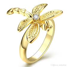 beautiful ladies rings images 2018 womens rings 18k gold plated jewelry dragonfly women 39 s jpg