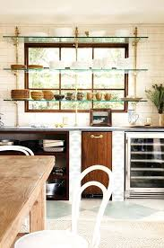 glass shelves for kitchen cabinets glass shelves kitchen cabinets open glass shelving with brass