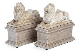 marble lion bookends plaster marble lion bookends paul corrie wash dc store gift list