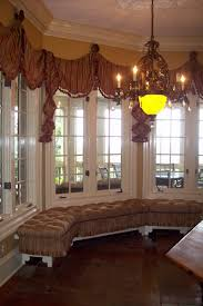 interior gorgeous window decoration with wooden blind for bay
