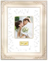 wedding signing frame wedding anniversary photo signature frame with two