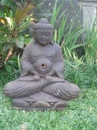 large buddha water feature outdoor garden patio patio