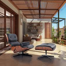 gym equipment modern wood eames style lounge chair u0026 ottoman set