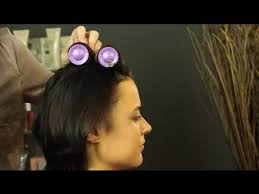 how to put rollersin extra short hair how to use hot rollers in short hair shoulder length short