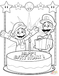 mario coloring pages online eson me