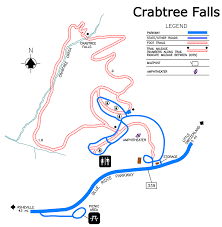 Map Of Asheville Nc Crabtree Falls Hiking Trail Blue Ridge Parkway U S National