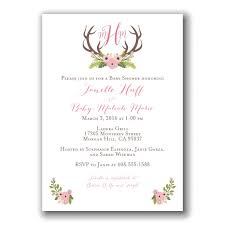 baby shower for couples floral antlers baby shower invitation pink woodland theme oh