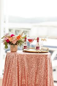 Rose Home Decor by Rose Gold Sequin Tablecloth Rose Gold Table Linen Gold