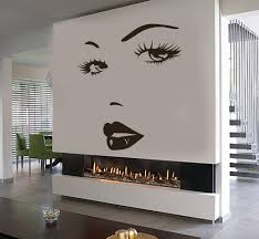eyes wall sticker vinyl decal beauty salon woman face lips