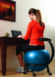 Yoga Ball As Desk Chair Exercise Ball Chair Stability For Work Seat And Stability Ball