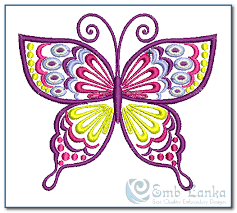 embroidery designs of butterfly makaroka com