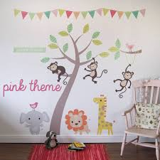 pastel jungle animal wall stickers by parkins interiors pastel jungle animal wall stickers
