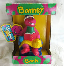 Barney Christmas Ornament 1992 Barney The Purple Dinosaur Storytime Savings Bank In Unopened