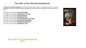 audiobook free the war of the audiobook free