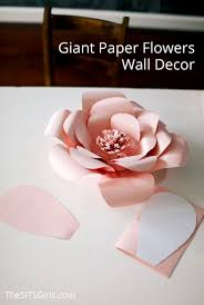 White Flower Wall Decor Giant Paper Flowers Wall Decor Spring Party Decor