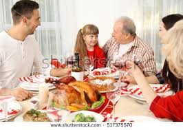 thanksgiving dinner family stock images royalty free images