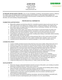 printable resume exles marketing summary of qua ifications resume sle marketing resume