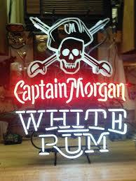 captain morgan neon bar light captain morgan white rum flag neon sign glass tube neon light for