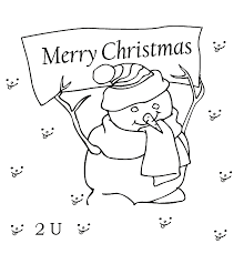 snowman merry christmas coloring pages sheets free coloring pages