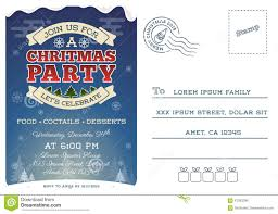 christmas party postcard invitation template stock vector image