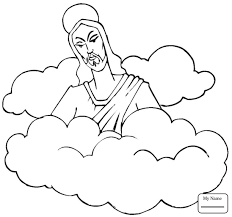 coloring page of jesus ascension coloring page coloring pages for kids jesus ascension into heaven
