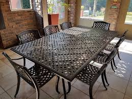 Cast Aluminium Outdoor Furniture by 8 Seater Bronze Cast Aluminium Patio Set Centurion Gumtree
