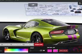 Dodge Viper Green - custom 2015 dodge viper gtc configurator now live