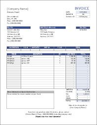 Free Invoice Template Excel Xlsx Invoice Template Sle Business Printable