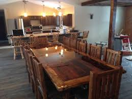 Custom Built Dining Room Tables by Hand Made Custom Built Reclaimed Barn Wood Dinning Room Table And