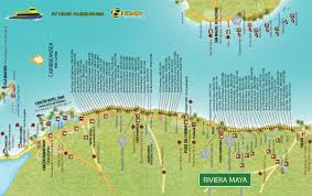 Playa Del Carmen Mexico Map by Mapas Riviera Maya