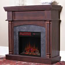 wexford wall or corner infrared electric fireplace in brown cherry 18dm9038 pm92