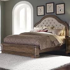 pulaski furniture aurora king upholstered bed with button tufting