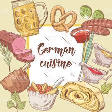cuisine allemagne fond de cuisine traditionnelle allemande dessinés à la modèle