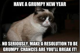 Happy New Year Meme 2014 - speak of the devil ringing in a new year with her grumpiness