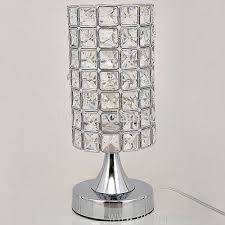 Small Crystal Table Lamp Stainless Steel Round Shaped Led Crystal Table Lamps For Sale