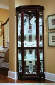 cherry wood corner cabinet black corner curio cabinet with light best cabinets decoration